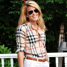 summerwind41490: Classic @burberry plaid on the blog today!