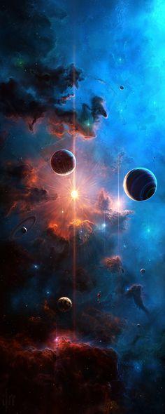 69 Super Ideas for fantasy art dark horror Planets Wallpaper, Wallpaper Space, Galaxy Wallpaper, Wallpaper Backgrounds, Fantasy Landscape, Fantasy Art, Art Galaxie, Cosmos, Space And Astronomy