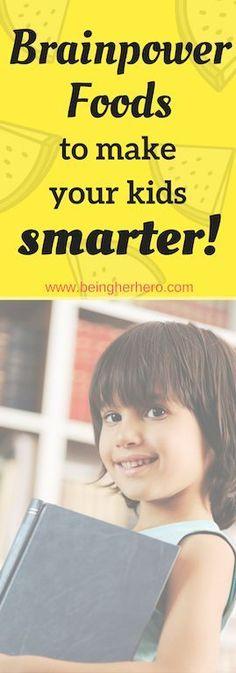 8 brain power foods to make your kids smarter! #brainfoodnutrition #goodfood #steamedveg #brainfood
