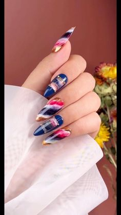 Funky Nails, Trendy Nails, Cute Nails, Nail Art Designs Videos, Nail Art Videos, Best Acrylic Nails, Acrylic Nail Designs, Nail Art Hacks, Nail Art Diy