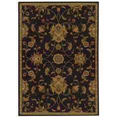 This beautiful transitional floral black/ green  features a blend of comfortable tones in an easy-care, family friendly construction. Tie any room together with this versatile floor covering.