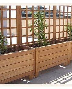 usando jardineiras como separador de ambientes