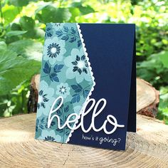 How's It Going Card by Lizzie Jones for Papertrey Ink (June 2017)