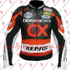 CX Repsol Motorbike Racing Leather Jacket For Men All sizes Available #RacingWears