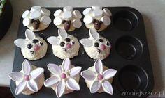 Moje Wypieki | Babeczki wiosenne i wielkanocne: stokrotki, króliczki i owieczki (dekoracja)