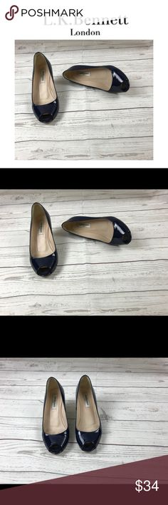 """L.K. Bennett Blue Wedges.  Sz 6 L.K. Bennett Blue Wedges.  Sz 6. Wedge measures 2"""". These are awesome shoes! LK Bennett Shoes Wedges"""