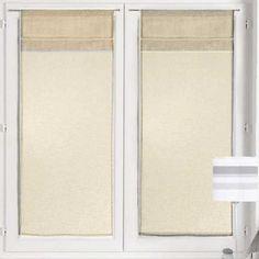 Paire+vitrage+Voilage+mi-Lin+ Passe-tringle 45x90cm 60x120cm 60x200cm