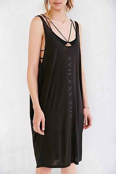 Truly Madly Deeply Numeral Lines Tank Dress