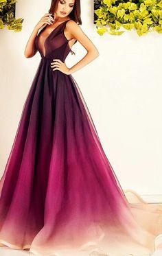 Ombre dress by Romanian designer Ana Radu