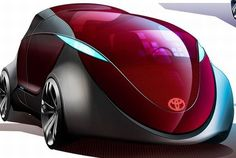 Toyota Minivan 2015, zero emission vehicle, Futuristic Car, Andrey Gusev