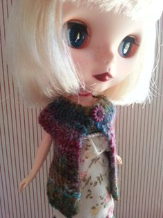 Blythe Doll Sleeveless Cardigan Pattern by Thislittlebirdtoldme, $3.00