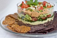 Pico de Gallo + Guacamole + Vegan 7 Layer Dip #vegan