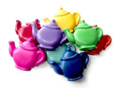 Teapot Scribblers Set of 8 2nd Chance Crayons by ScribblerCrayons, $8.00