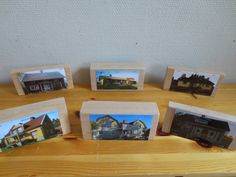 We asked  families to take pictures of their  homes. Our idea with the pictures was to attach them to building blocks so that the children can use their own and their friends' house for building their community.