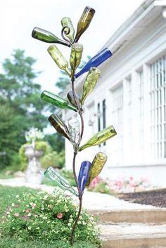 Whimsical bottle tree