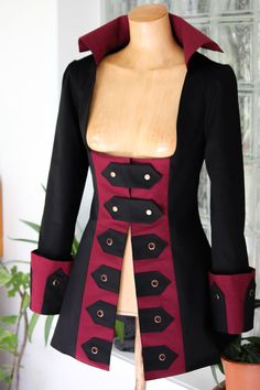 Hey, I found this really awesome Etsy listing at https://www.etsy.com/listing/263085308/steampunk-pirate-gothic-jacket-costume