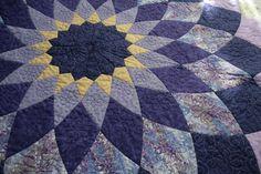 Giant Dahlia Purple Patchwork Quilt Full/Double