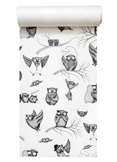 Mini Empire — Wallpaper Owls  perfect for arty's room :)