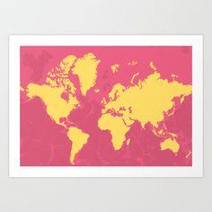 Metropolis (yellow and rose)    by Cartogra.ms
