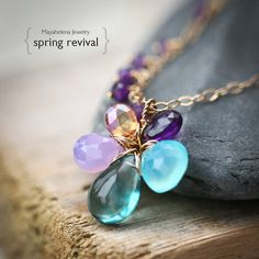 Spring Revival  Amethyst Chalcedony Fluorite and by Mayahelena