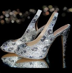 4.5″ Black Diamond Leopard Print Crystal Heels | Charlie Co. London