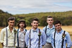 Well-Groomed Groom: Switch It Up - A groom and his groomsmen sport very different looks. Description from pinterest.com. I searched for this on bing.com/images
