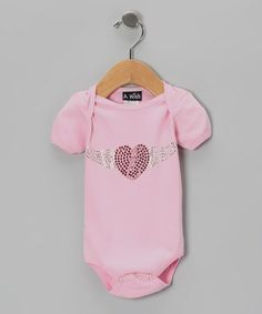 Pink Winged Heart Bodysuit - Infant by A Wish #zulily #zulilyfinds