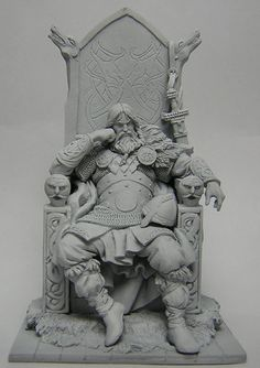 """Norse Lord by joapala. on This is the second figure for Andrea Miniatures series """"The Vikings"""" the figure is made in epoxie Milliput and the scale is I hope you like it. Zbrush Character, Character Modeling, Character Concept, Character Art, Concept Art, Traditional Sculptures, Creation Art, Arte Obscura, Modelos 3d"""