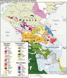Map: Caucasus Ethnic Groups