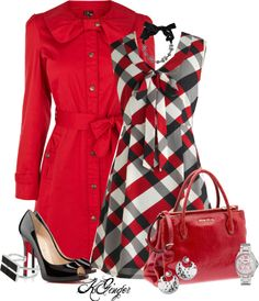 """""""Plaid Contest"""" by kginger on Polyvore"""