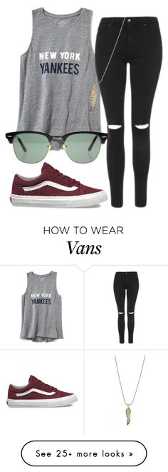 """""""#No name"""" by eemaj on Polyvore featuring Old Navy, Topshop, Ray-Ban, Vans and Olia"""