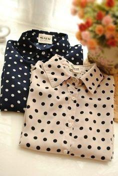 Polka dot shirts