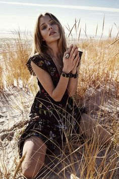 Seaside Love: Ieva Laguna by Hannah Khymych for Harper's Bazaar Kazakhstan February 2016