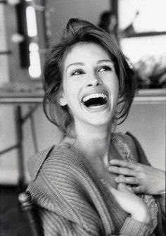 Julia Roberts black and white