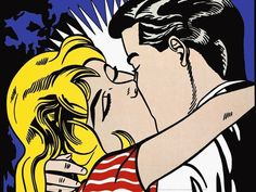 """1964 by ROY LICHTENSTEIN POP ART COMIC STYLE CANVAS 24/""""x23/"""" OHHH...ALRIGHT.."""