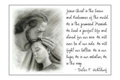 """""""Jesus Christ will ever be at our side. He will fight our battles. He is our hope."""" I love this quote from the August visiting teaching message. #freeprintable #lds #visitingteaching"""