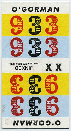 betting ticket from dog races  #type #typography #design