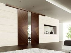 Puerta corrediza de madera RIO CANALETTO Colección Design by Ghizzi