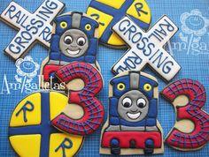 Thomas Train Cookies by Amigalletas on Etsy
