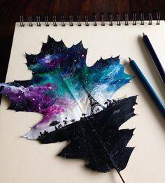 art, paris, and galaxy image