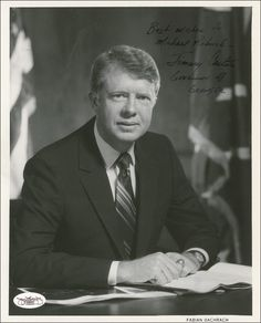 "October 1978 President Jimmy Carter signs the Hawkins-Humphrey Full Employment Bill. Co-authored and sponsored by black Congressman Augustus F. Hawkins, this was also called the ""Full Employment and Balanced Growth Act. Us History, History Facts, American History, Black History, List Of Presidents, American Presidents, Presidential History, Presidential Portraits, Georgia"