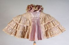 Ruffled Lace Cape with back pleating, circa 1895.  From the Kent State University Museum Pinterest.