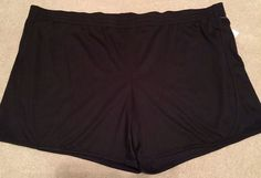 Womens 3X Danskin Now Loose Fit Black Active Knit Shorts 3XL 22 24W | eBay
