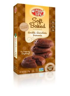 Enjoy Life Double Chocolate Brownie Soft Baked Cookies, Gluten, Dairy & Nut Free,  6-Ounce Boxes (Pack of 6) - http://bestchocolateshop.com/enjoy-life-double-chocolate-brownie-soft-baked-cookies-gluten-dairy-nut-free-6-ounce-boxes-pack-of-6/