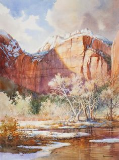 Roland Lee – Canyon Snowfall – Zion