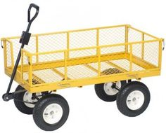 Steel Cart Lasting Use Pneumatic Hauling Supplies 1000 LBS Carrying Capacity NEW #AcademySportsOutdoors