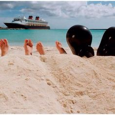 Disney cruise toes in sand