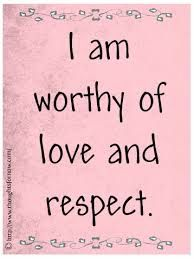 I am worthy of love and respect. Affirmations for Women, Daily Affirmations Prosperity Affirmations, Affirmations Positives, Affirmations For Women, Daily Positive Affirmations, Positive Thoughts, Positive Vibes, Positive Quotes, Morning Affirmations, Positive Mindset