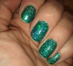 #nailpolish #chinaglaze atlantis    this is mesmerizing . . . holographic sparkly goodness . . .cannot stop looking at it and am giddy like a school girl!!