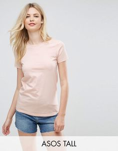 Get this Asos Tall's basic t-shirt now! Click for more details. Worldwide shipping. ASOS TALL The Ultimate Crew Neck T-Shirt - Pink: Tall top by ASOS TALL, Soft-touch cotton jersey, Crew neck, Short sleeves, Plain design, Regular fit - true to size, Machine wash, 100% Cotton, Our model wears a UK 8/EU 36/US 4 and is 180cm/5'11 tall. Find fresh wardrobe wins with our ASOS TALL edit. Raise your sunrise-till-sunset game with occasion dresses, cool separates and jeans that go up to a 38� leg…